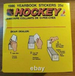 1986 OPC O Pee Chee Hockey Stickers Sealed 50 Count Pack Box Roy RC Year