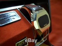 Bulova Computron Red Led in box, working near mint condition
