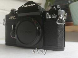 Canon F-1 Late Model F-1 Lake Placid 1980 Boxed with Case Near Mint