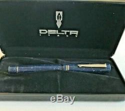 Delta Europa Collection Fountain Pen Bold 18 KT gold nib with Box Near Mint