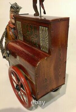 Distler boxed near mint'Jacko the merry organ grinder and the Monk' tin toy