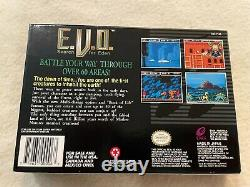 E. V. O. The Search for Eden SNES (1993) Box + Manual only Near Mint