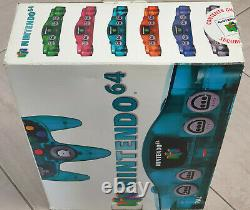Funtastic Ice Blue Boxed Nintendo 64 N64 Console In Near Mint Collector's Cond