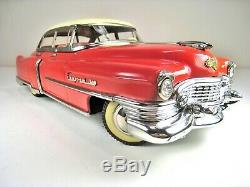 GAMA Tin Battery Op 1954 Cadillac 62 Sedan 12 Near Mint With Shell Gasoline Box