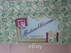 Madame Alexander Vintage Composition Near Mint In Box Scarlett O'hara With Hang