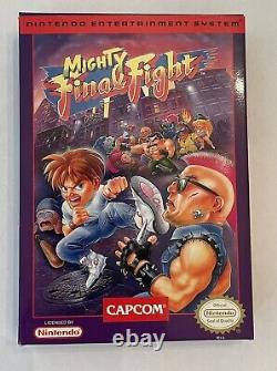 Mighty Final Fight NES Game. Nearly Complete In Box CIB. Mint Condition