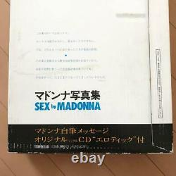 NEAR MINT IN COVER BOX Madonna sex photo picture book With CD JAPAN VER 1st print