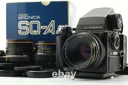 NEAR MINT+ in BOX Zenza Bronica SQ-A + ME Finder 3 Lens (50/80/105) Japan 527