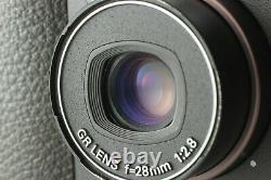 Near MINT in Box Read Ricoh GR1s Black Date 35mm withHood, Strap from Japan