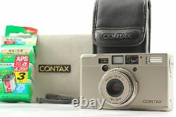 Near MINT with APS Film Contax Tix PointShoot Camera Silver in Box From JAPAN