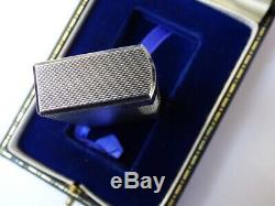 Near Mint DUNHILL 70 Lighter Silver Plated Barley Design Comes Fully Boxed