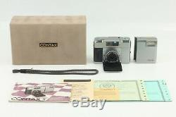 Near Mint in Box Contax T Silver 35mm Rangefinder + T14 Flash from Japan #122