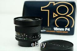 Near mint Carl Zeiss DISTAGON 18mm f4,0 boxed Contax Yashica lens