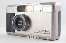 Near mint Contax T2 Chrome 35mm Film Point & Shoot with Box From Japan F/S #1913
