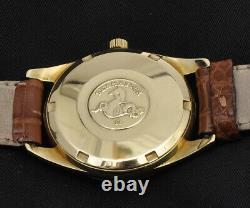 Omega Seamaster vintage 18k gold automatic 35mm nearmint perfect in box