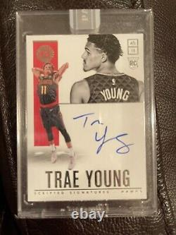Panini White Box 1/1 2018-19 Atl Hawks Trae Young On Card Auto Rookie Card