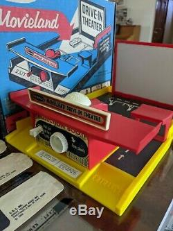 Remco Near Mint Complete Movieland Drive In Box, Cars, Films, Billboards And Ads