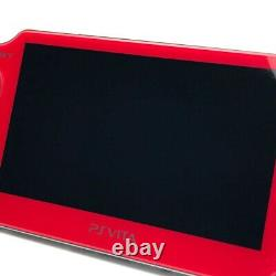 SONY PS Vita PCH-1000 Cosmic Red Wi-Fi OLED FW3.55 with Charger, Box Near Mint