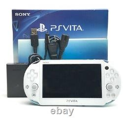 SONY PS Vita PCH-2000 Slim Wi-Fi Light Blue White with Charger, Box Near Mint