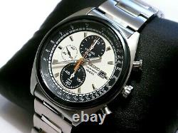 Seiko SNDF87P1 Panda Chronograph Watch Cal. 7t92 Boxed Hard to Find Near MINT