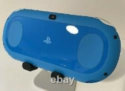 Sony PS Vita Aqua Blue Slim PCH-2000 with Charger and Box Near MintPSV Console