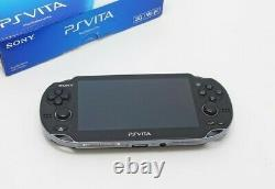 Sony PS Vita PCH-1100 / 1000 OLED Wi-Fi Black with Charger and Box Near Mint