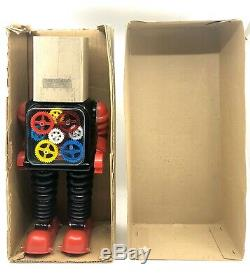 Vintage Taiyo Japan Blink-A-Gear Robot Battery Operated Near Mint In Box 1960s