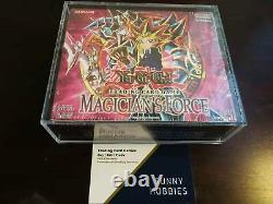 Yugioh Sealed Magician's Force MFC 1st ed English booster box (With ACRYLIC CASE)